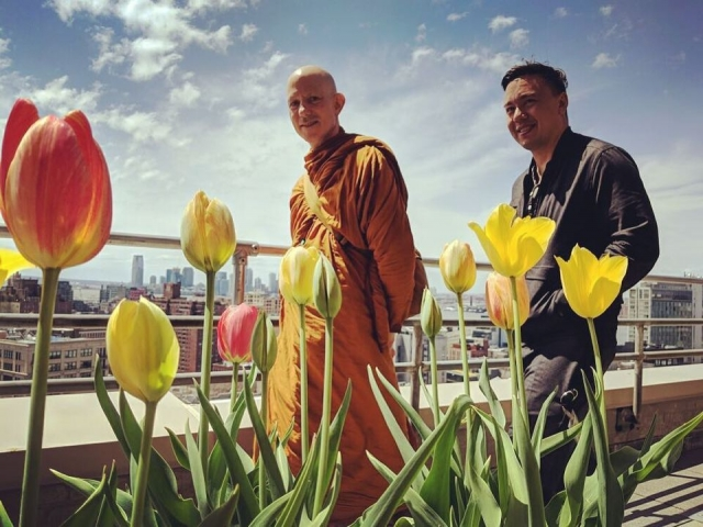 Ajahn Jayanto at Google HQ in NYC