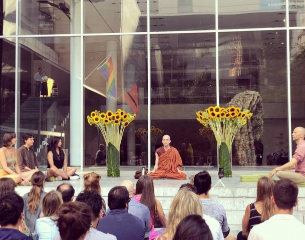 Bhante Suddhaso at the MoMa in NYC